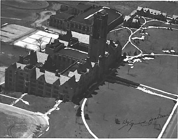 The University of Toledo campus as it looked in 1938. (Photo by Maurice Wallace.)