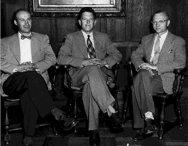 The Interim Operating Comm. (John Turin, John Brandeberry, Jesse Long) governed UT during the period between the death of Wilbur White and the assumption of the presidency by Asa Knowles in 1951.