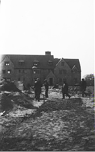 Construction of Scott, Tucker, and Libbey Halls began in 1934, and was another project funded by the federal government's New Deal programs